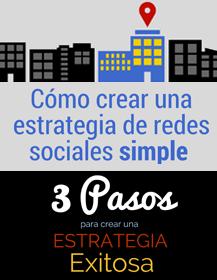 infografia como crear una-estrategia de redes sociales simple