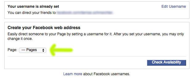 cambiar url de facebook
